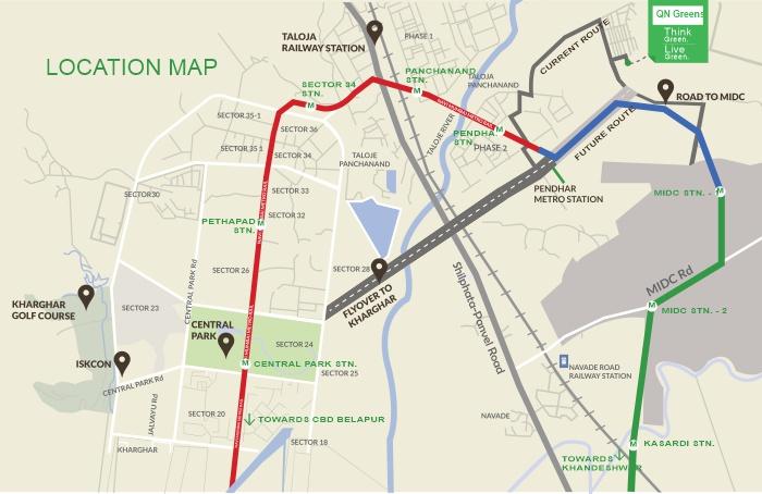 QN Greens Location Map