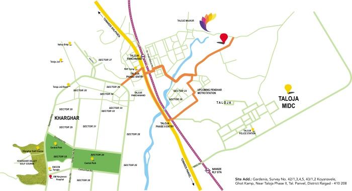 Kamdhenu Gardenia Location Map