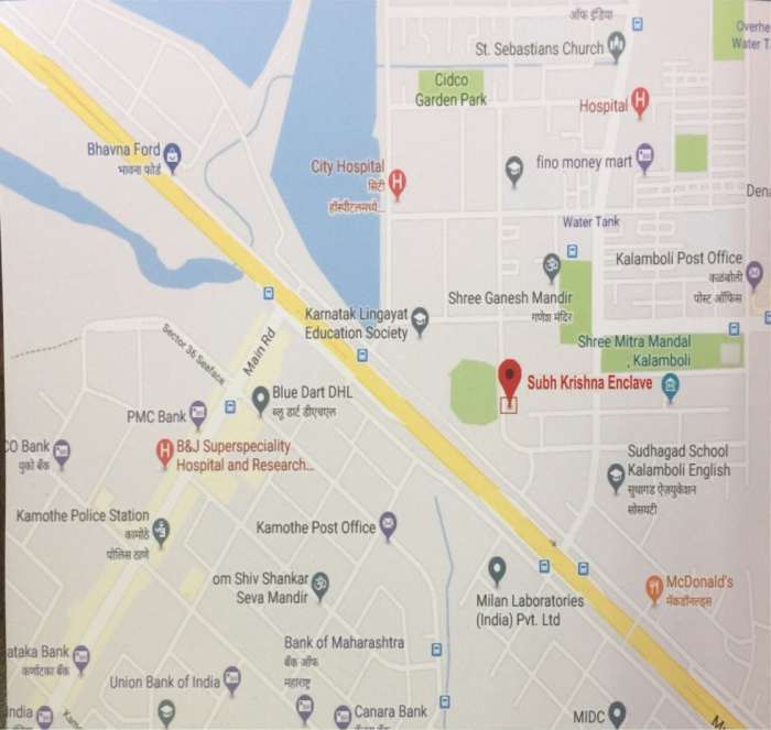 Shubh Krishna Enclave Location Map