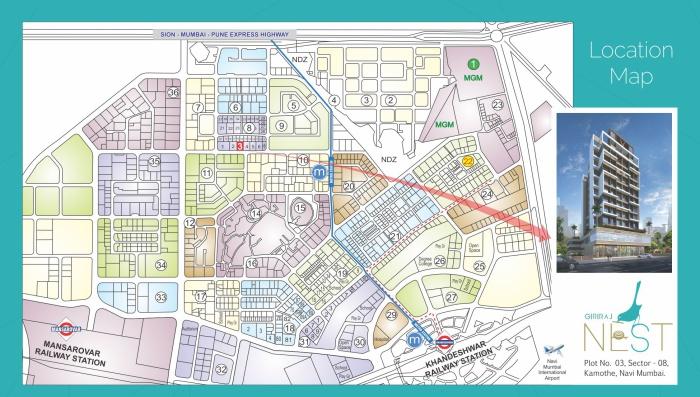 Giriraj Nest Location Map