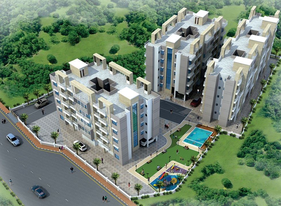 1Rk & 1BHK Flats in Pushpak Nagar Navi Mumbai in EV Heart City 1 - Sqmtrs