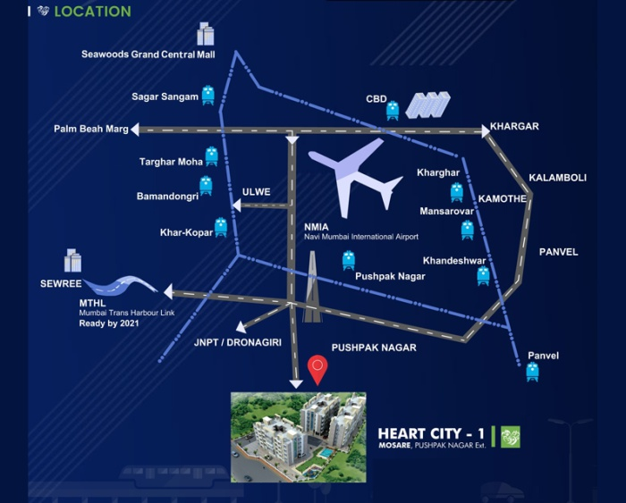 EV Heart City 1 Location Map