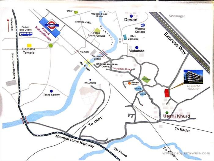 Sai Krishna Residency Location Map