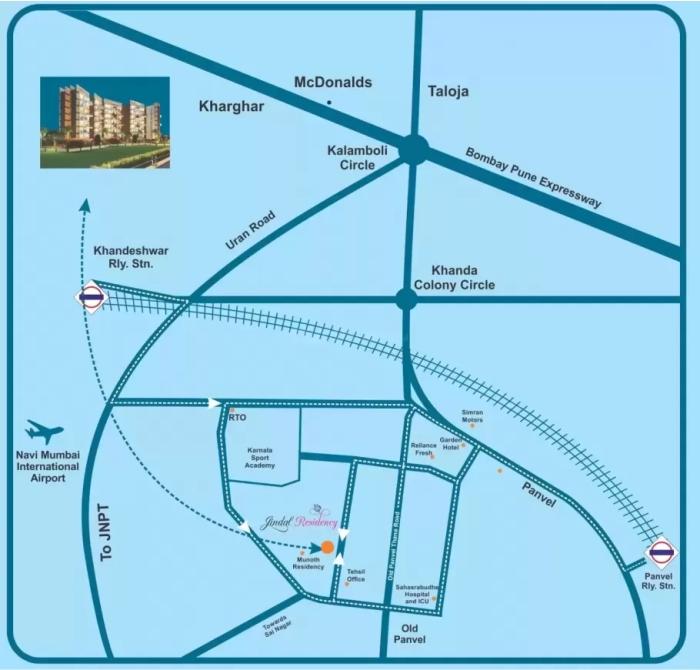 Jindal Residency Location Map