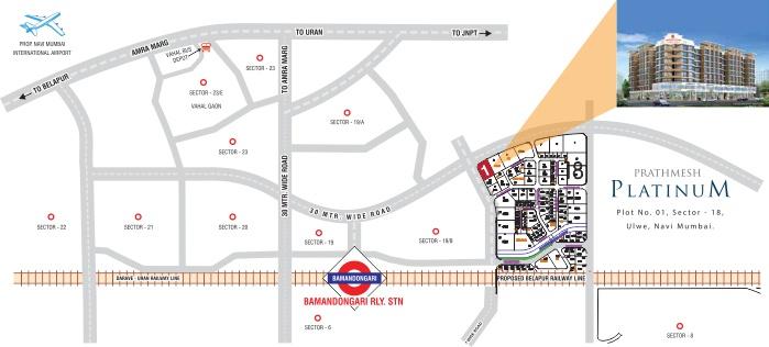 Prathmesh Platinum Location Map