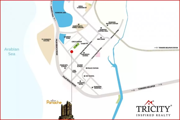 Tricity Panache Location Map