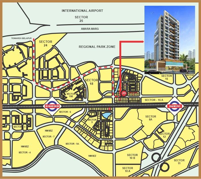 Bhakti Aura Location Map
