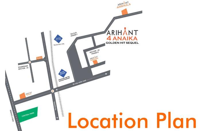 Arihant 4 Anaika Location Map