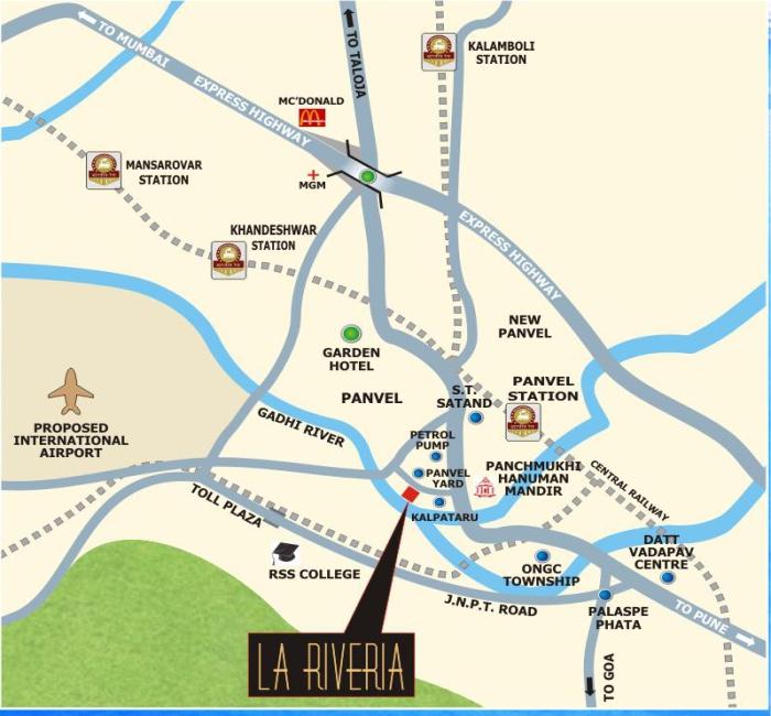 Lakhani La Riveria Location Map