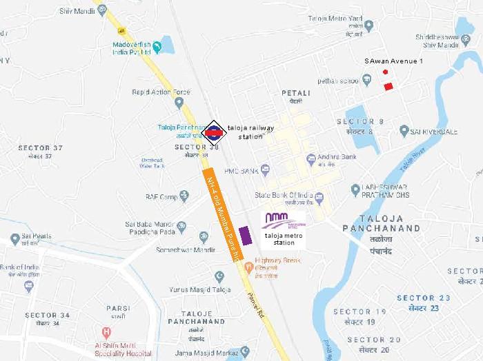 Shree Sawan Majesty Location Map