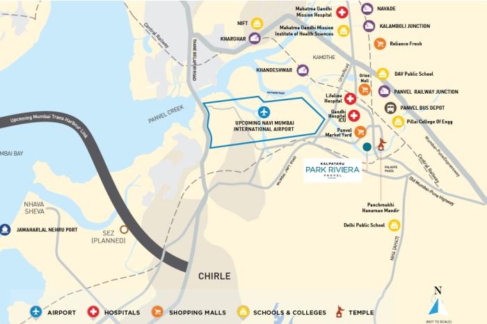 Kalpataru Park Riviera Location Map