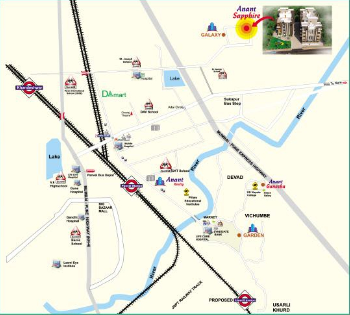 Anant Sapphire Location Map