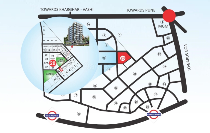 Aashvi Heights Location Map