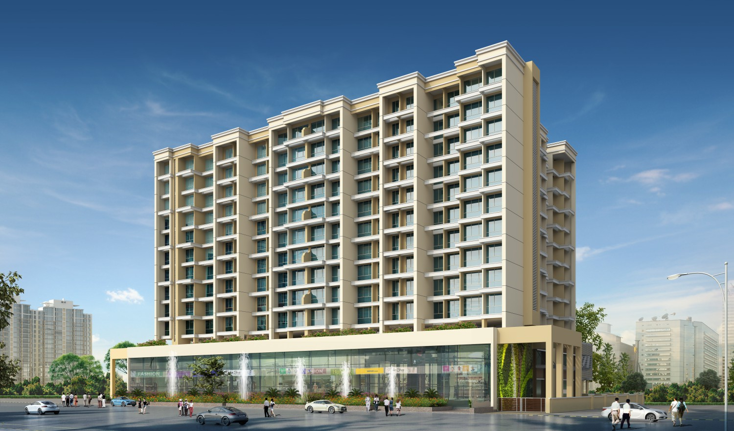 1 & 2 BHK Luxury Flats, Shops & Offices in Opp. D-Mart, New Panvel (E) - 410206 in Millennium Hilton