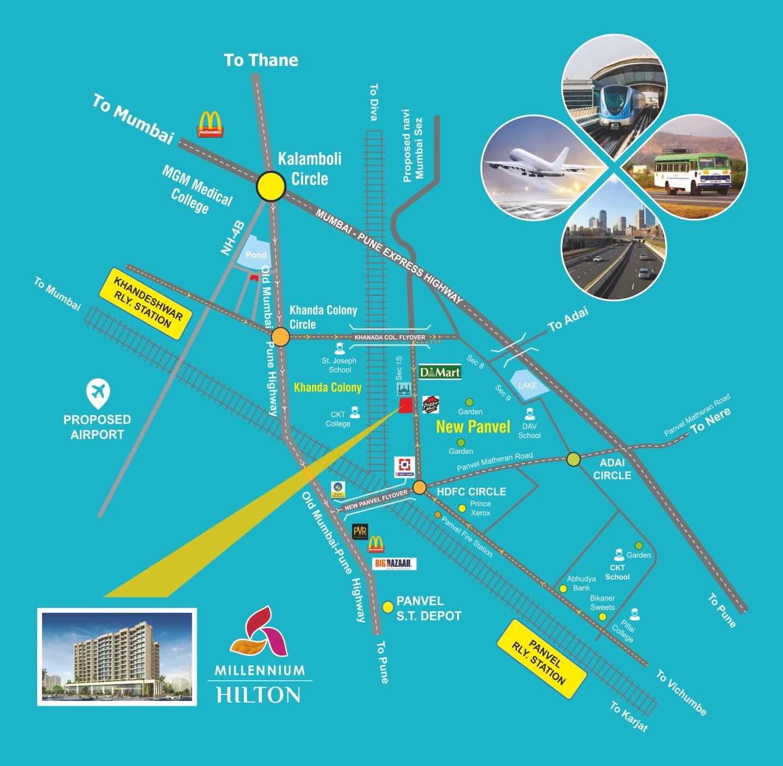 Millennium Hilton Location Map