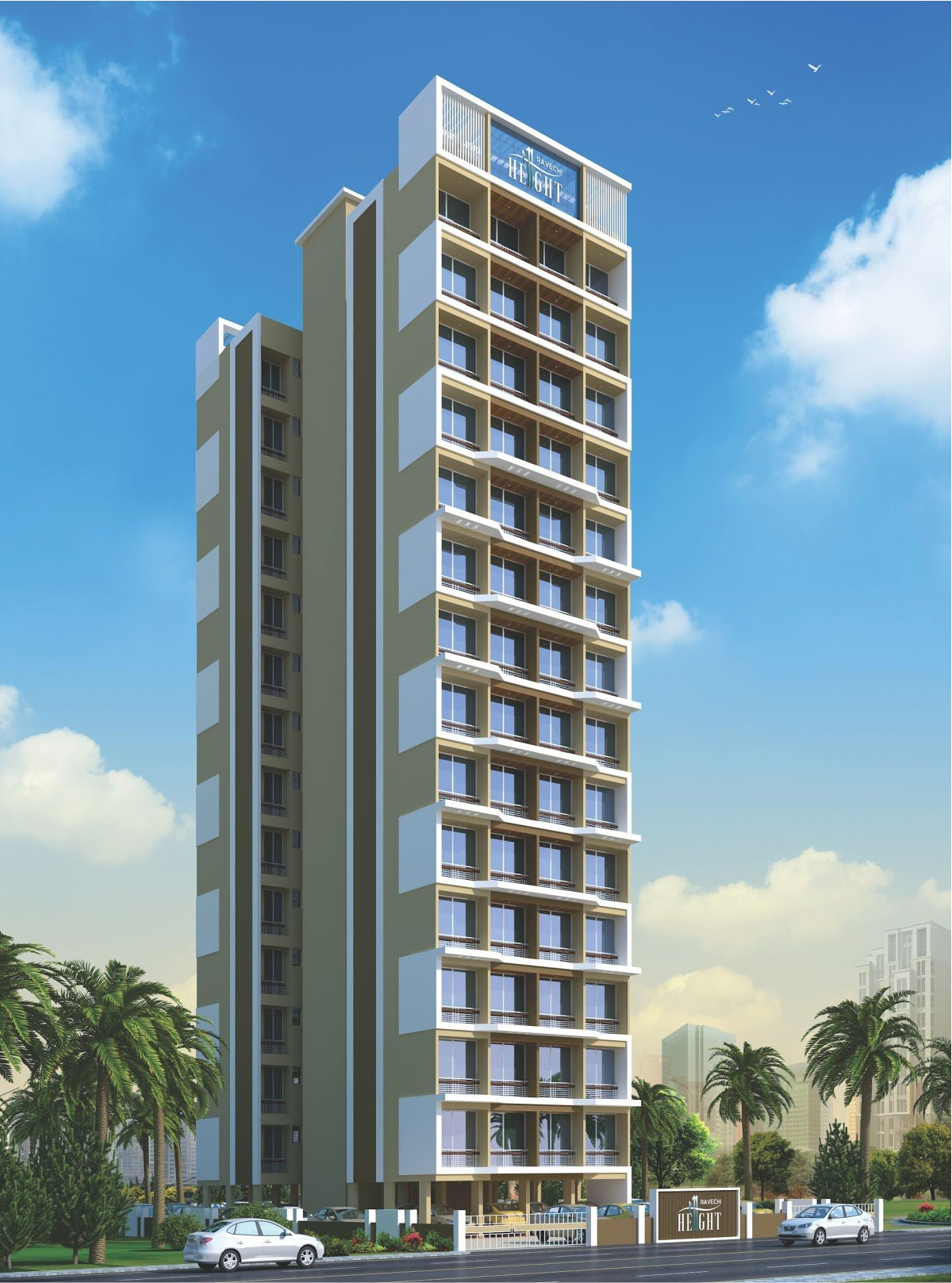 1 BHK Flats in kamothe Navi Mumbai in Ravechi Heights - Sqmtrs