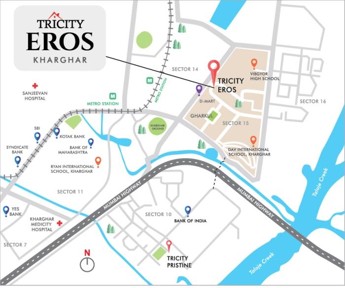 Tricity Eros Location Map