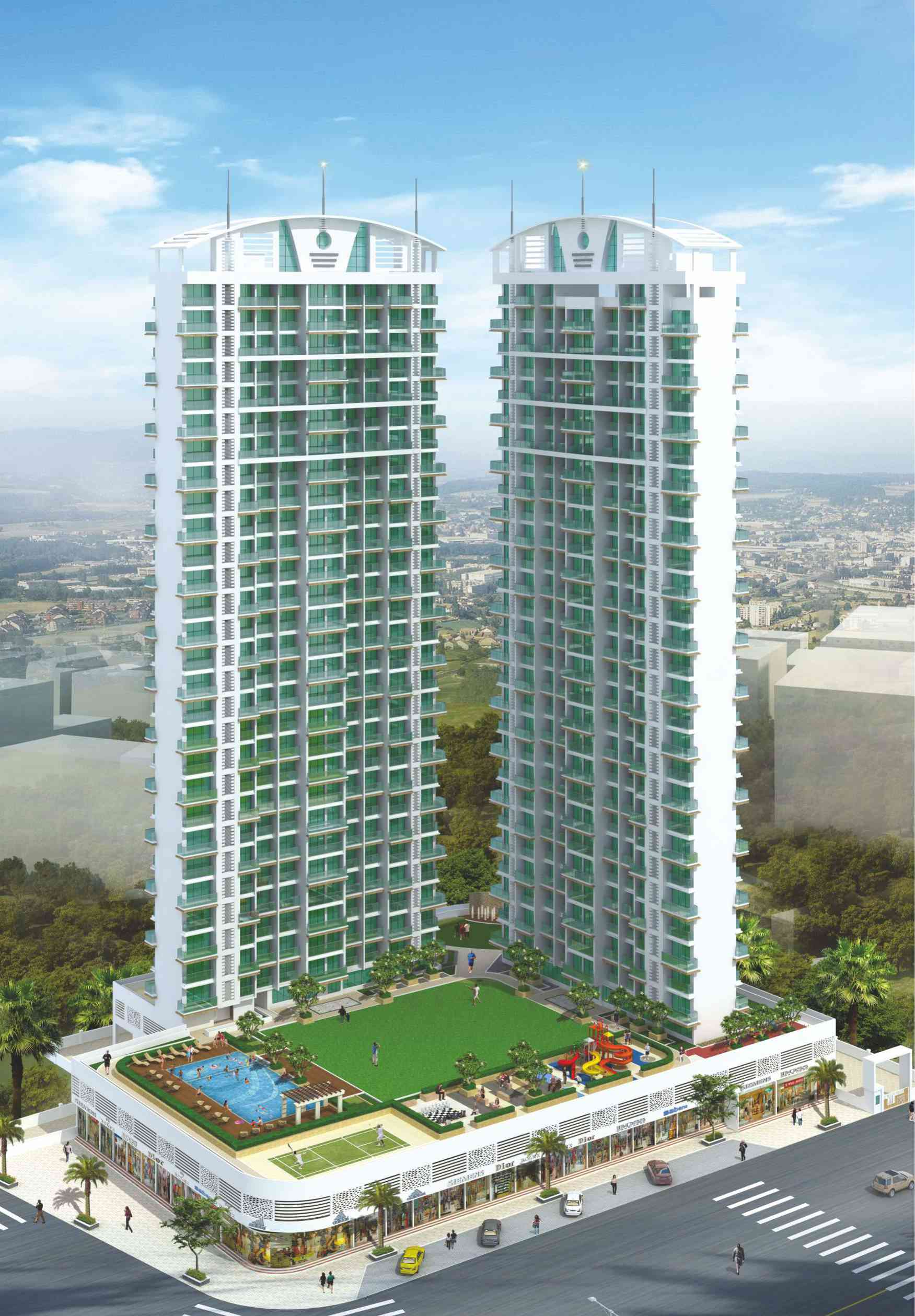 2 & 3 BHK Flats in kharghar Navi Mumbai in Green Woods - Sqmtrs