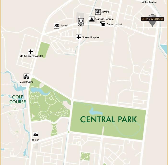 Sambhav Deep Visionaire Location Map