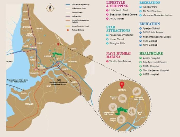 Adhiraj Capital City Location Map