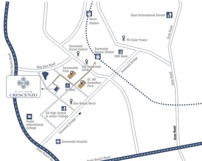 Platinum Crescenzo Location Map