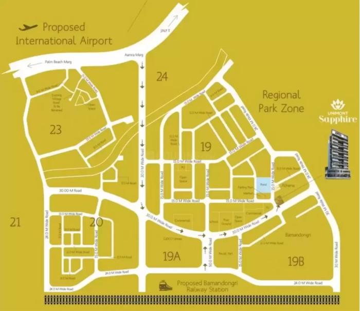 Unimont Sapphire Location Map