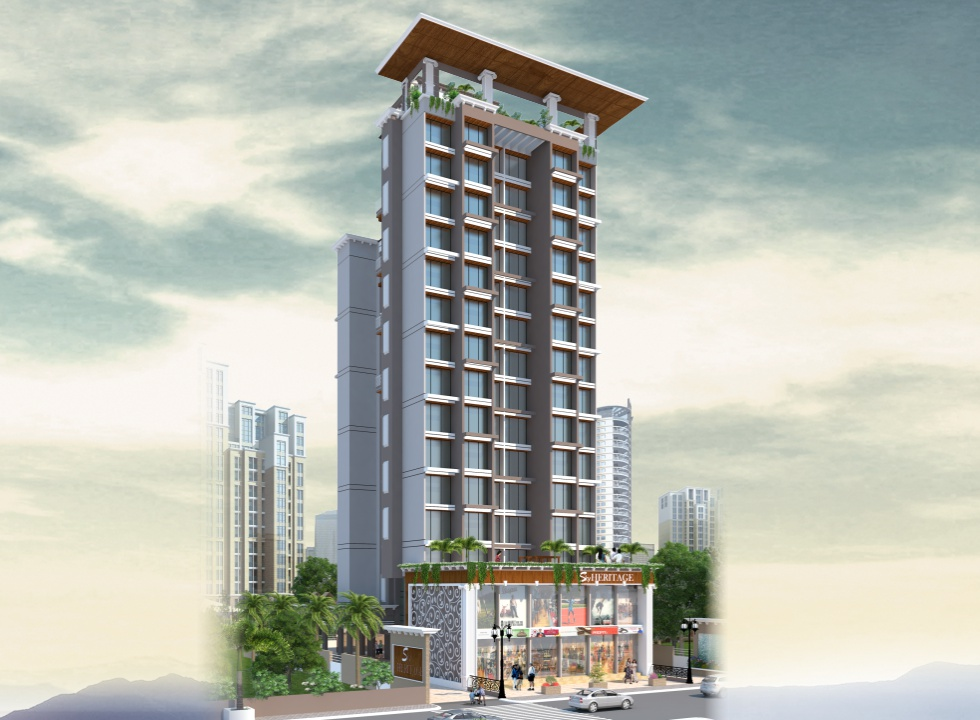 1BHK, 2BHK Flats, Shops, Offices in Dronagiri Navi Mumbai in Sky Heritage - Sqmtrs