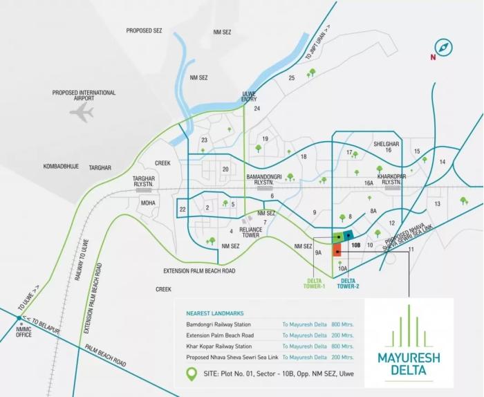 Mayuresh Delta Location Map