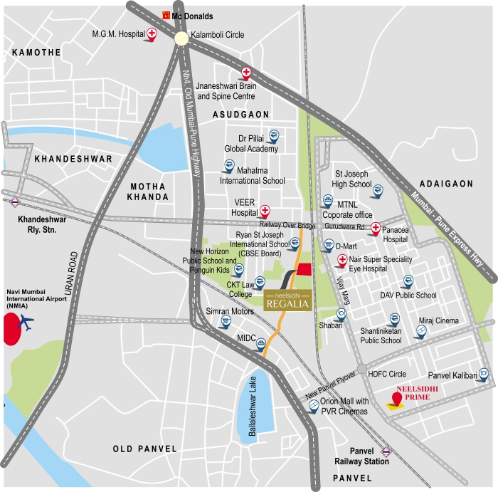 Neelsidhi Regalia Location Map