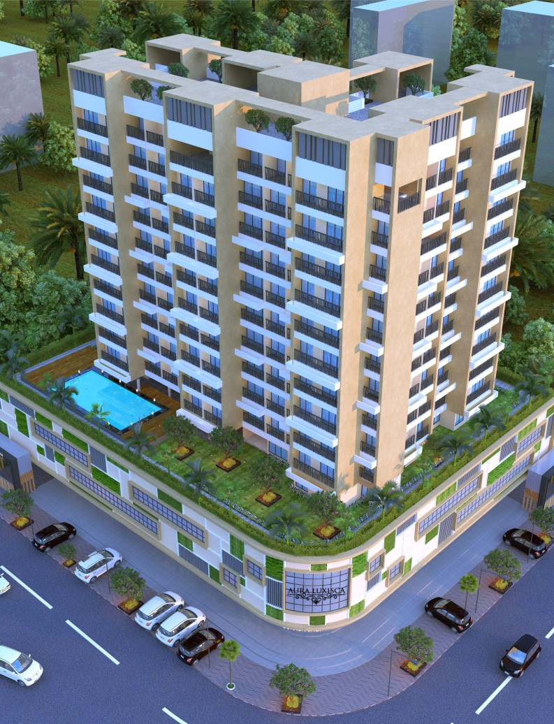 1 RK +T, 1 BHK, 1 BHK+T & 2 BHK Flats in Khanda Colony,New Panvel in AURA LUXISCA