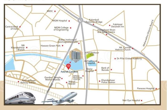 Amrut Garden Location Map