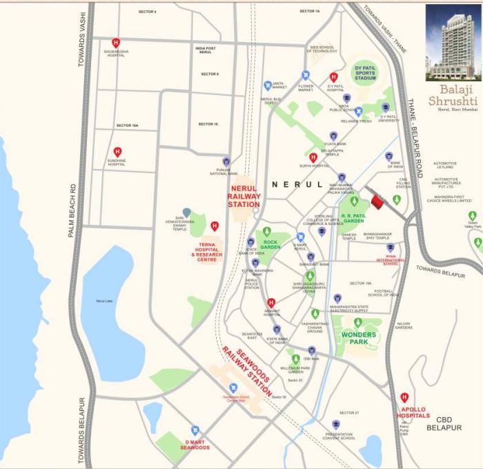 Varsha Balaji Shrushti Location Map