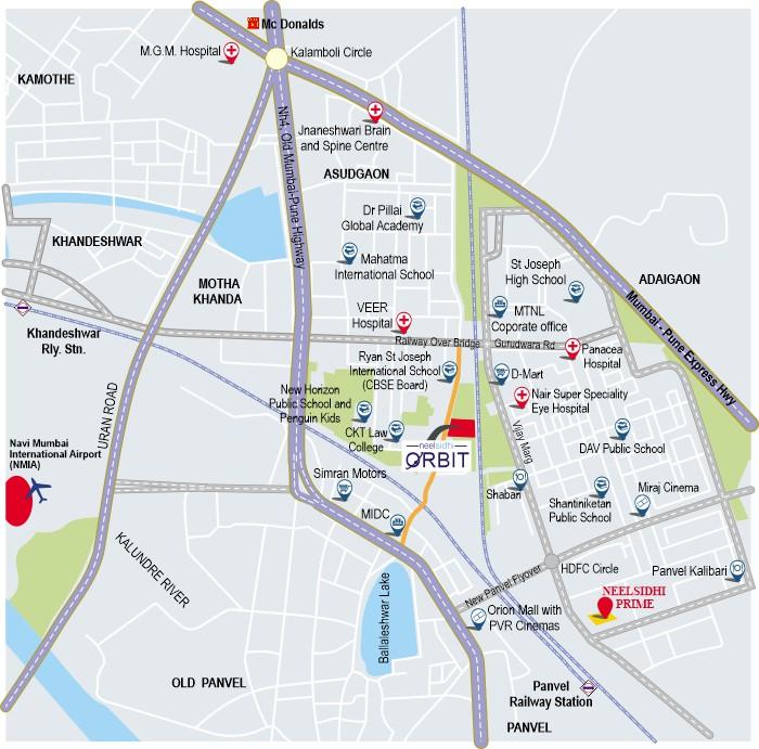 Neelsidhi Orbit Location Map