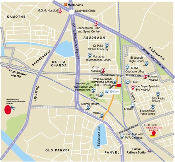 Neelsidhi Infinity Location Map