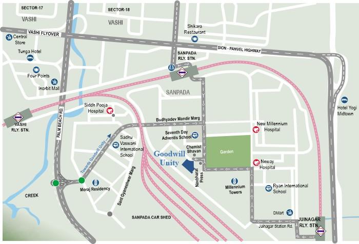 Goodwill Unity Location Map