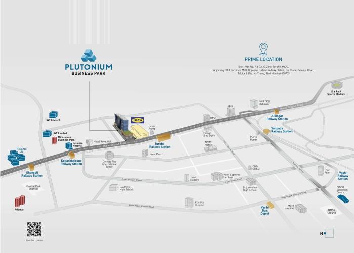 Plutonium Business Park Location Map