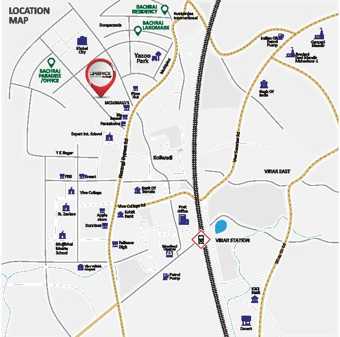Bachraj Lifespace Location Map