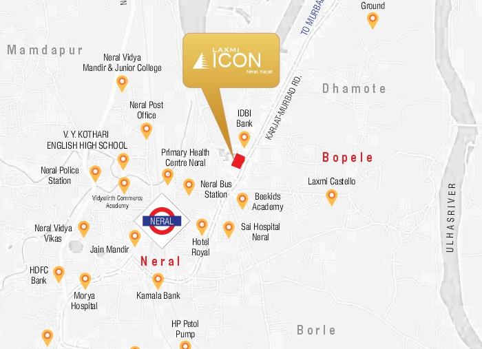 Laxmi Icon Location Map