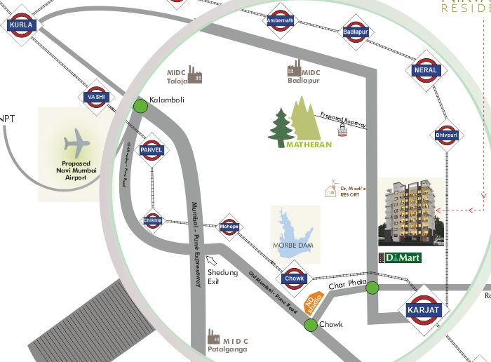 Nirvaana Residency Location Map