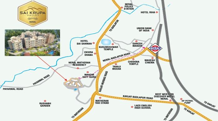 Sai Krupa Valley Location Map