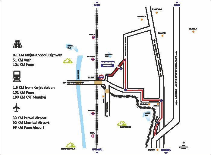 Aryan Samarth Residency Location Map