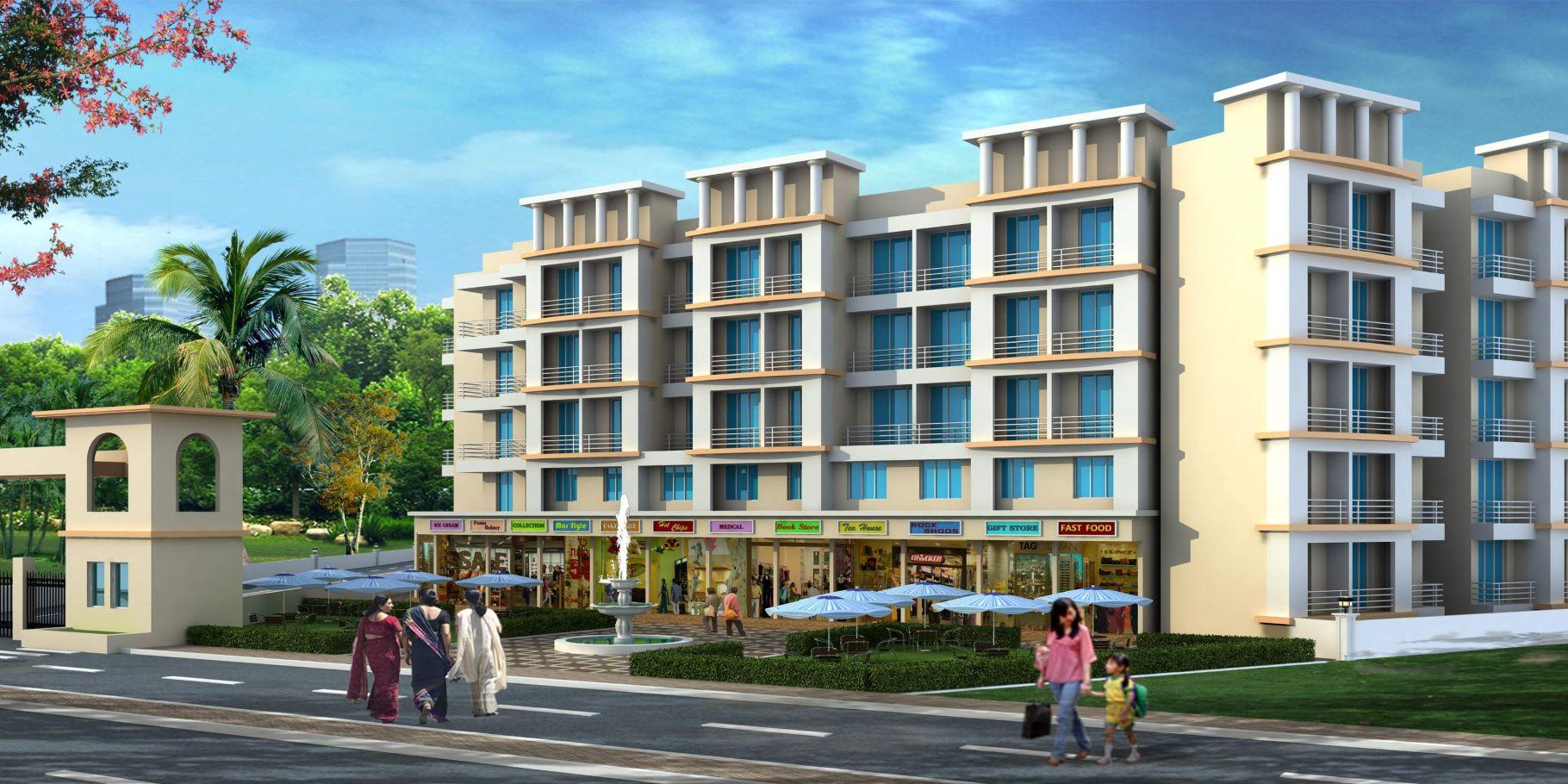 1Rk & 1 BHK Flats in Vangani Panvel Mumbai in Himalaya Gardens - Sqmtrs
