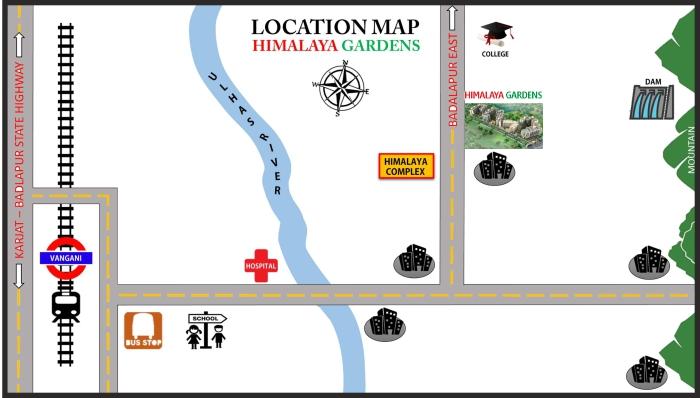 Himalay Gardens Location Map
