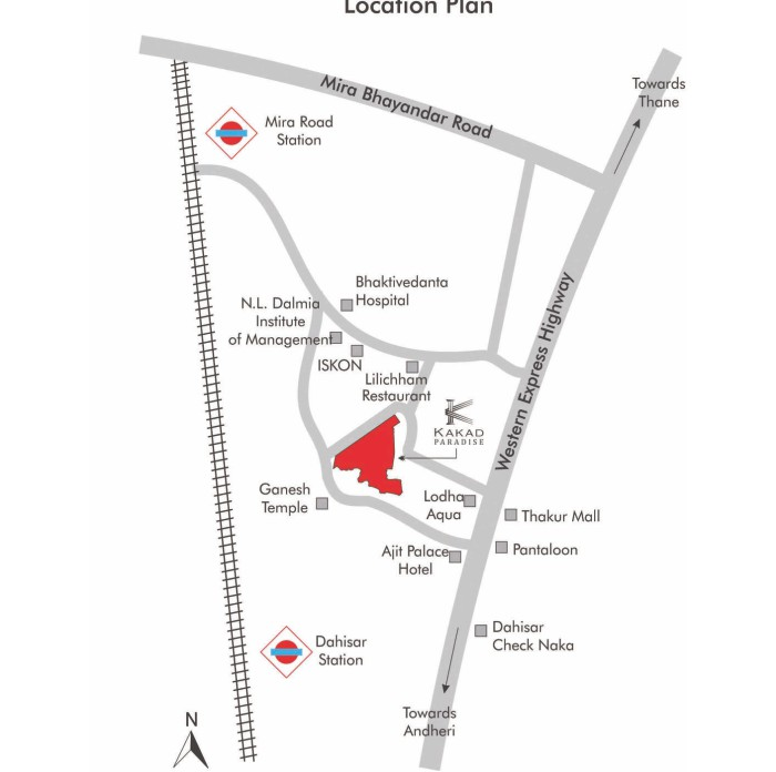 Kakad Paradise Location Map