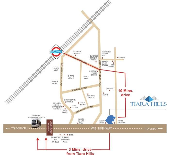 PNK Tiara Hills Location Map