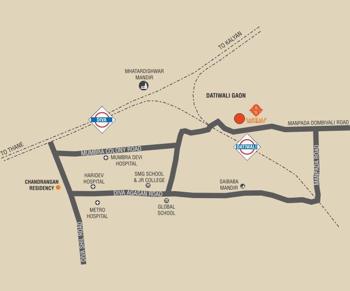 Sankalp Residency Location Map