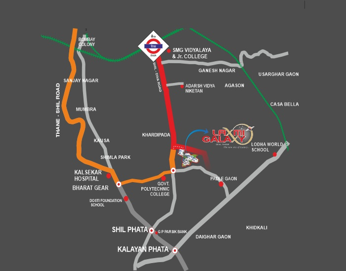 Laxmi Galaxy Location Map