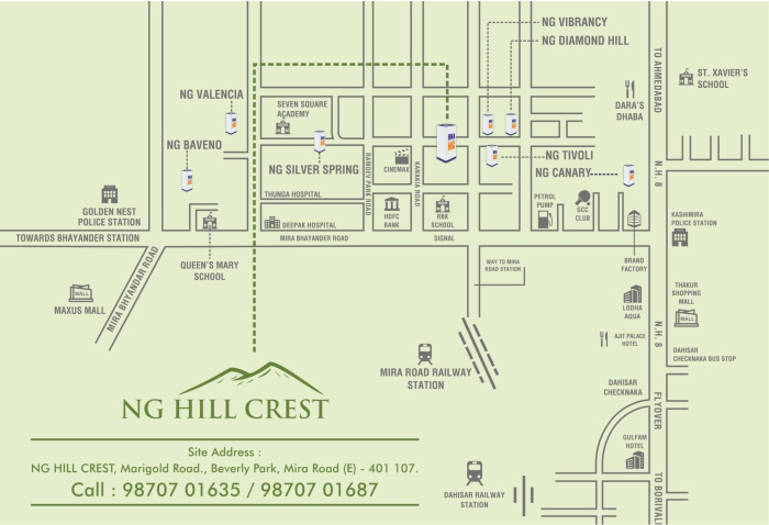 RNA NG Hill Crest Location Map
