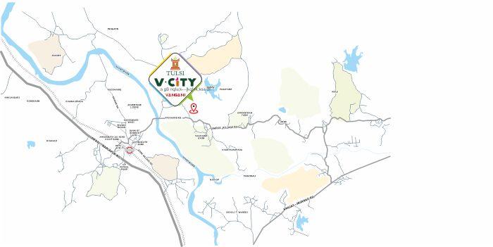 Tulsi V City Location Map
