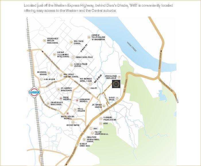 JK Iris Location Map